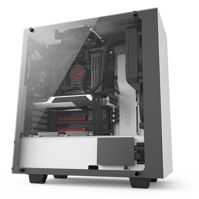 NZXT Case S340 ELITE ATX MID TOWER NO PS 0 0 (3) BAY USB MATTE WHITE NO LED WHITE IERIOR WINDOW RETAIL by HPP