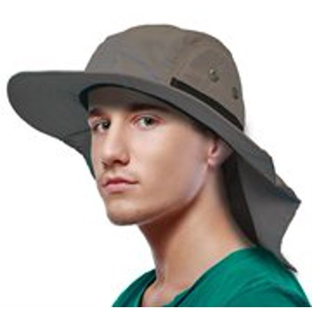Sun Blocker Unisex Sun Hat with Neck Flap Wide Brim Outdoor Camping Hiking Hunting Fishing