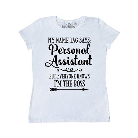 Personal Assistant Funny Boss Joke Women's T-Shirt (College Halloween Jokes)