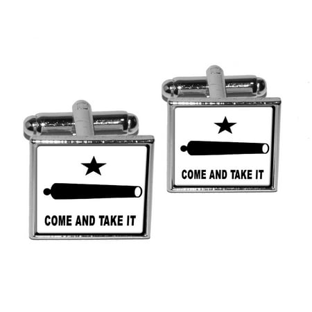 Come and Take it - Texas Flag - Revolt Square Cufflinks