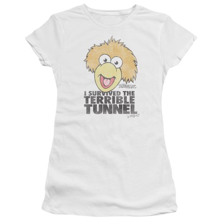 Fraggle Rock Terrible Tunnel Juniors Premium Bella Shirt