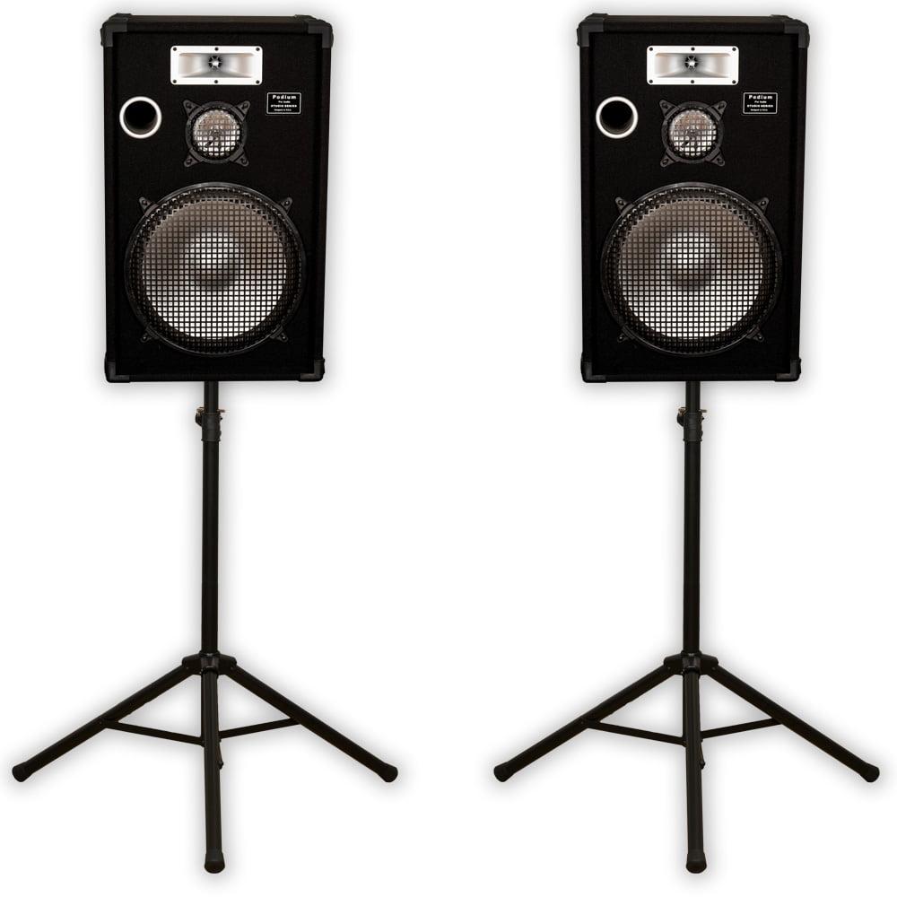 "Podium Pro E1525 Deluxe Passive 15"" Speaker Pair and Stands 1400W DJ PA Karaoke E1525SET1"