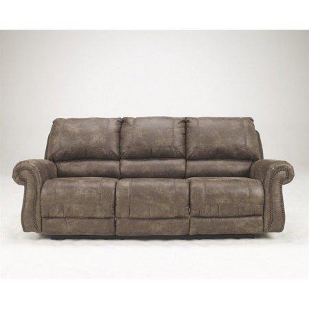 Prime Ashley Furniture Oberson Fabric Reclining Power Sofa In Gunsmoke Alphanode Cool Chair Designs And Ideas Alphanodeonline