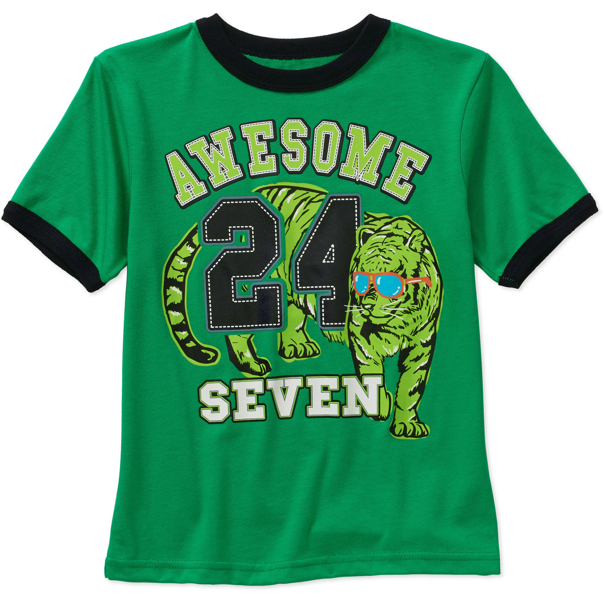 365 Kids From Garanimals Boys' Short Sleeve Ringer Tee