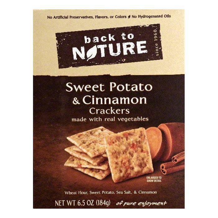 Back To Nature Sweet Potato & Cinnamon Crackers, 6.5 OZ (...