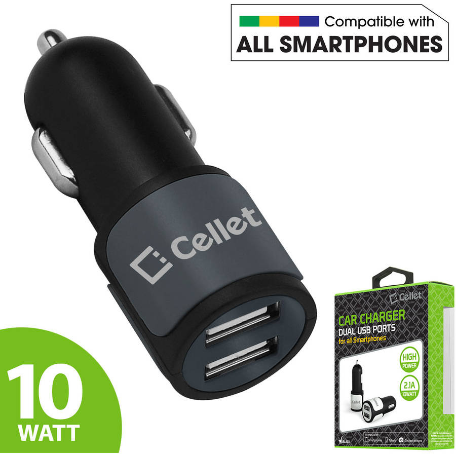 Cellet Universal High Power 10W / 2.1A Dual USB Car Charger