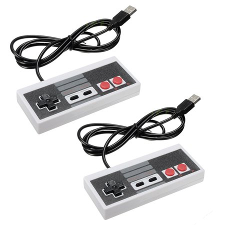 2 Pack Classic Game Controllers For Nintendo Nes 8 Bit System Console Famicom