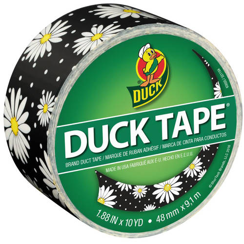 "Color Duck Tape Brand Duct Tape, Crazy Daisy, 1.88"" x 10 yd"