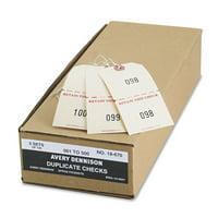 Avery 18670 Duplicate Auto Park Tags, 1-500, 4 3/4 x 2 3/8, Manila (Box of 500)