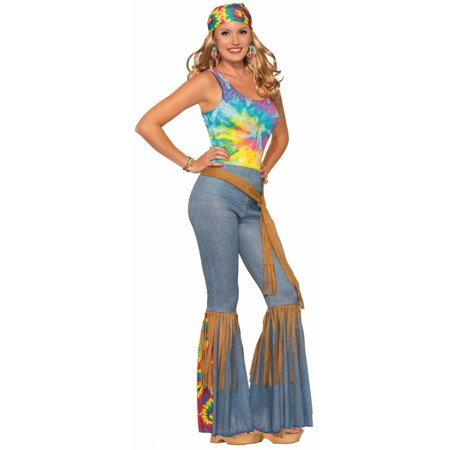 Womens Hippie Pants with Belt Halloween Costume