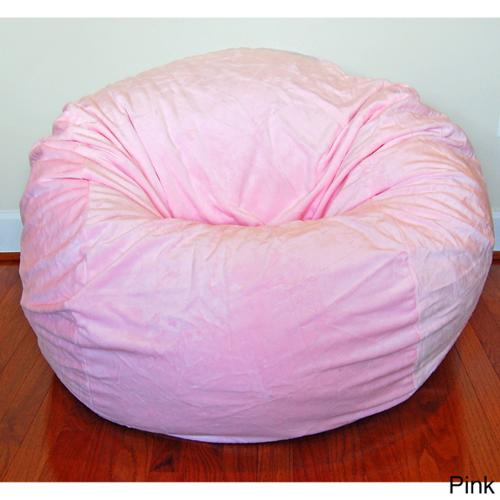 Cuddle Soft Minky 36-inch Washable Bean Bag Chair Pink