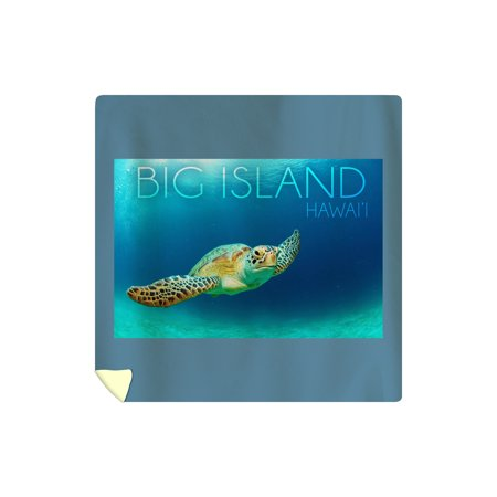 Big Island, Hawaii - Sea Turtle Swimming - Lantern Press Photography (88x88 Queen Microfiber Duvet (Big Island Queens)