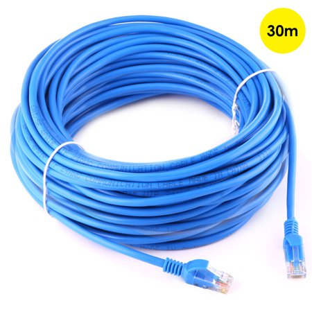 AMZER Ethernet Cable (30 Meter) - Supports Cat6/Cat5e/Cat5 Standards, 550MHz, 10Gbps - RJ45 Computer Networking Cord