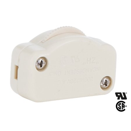 Cord Dimmer - B&P Lamp® Ivory Hi-Low Inline Dimmer Switch For 18/2 Spt-2 Lamp Cord