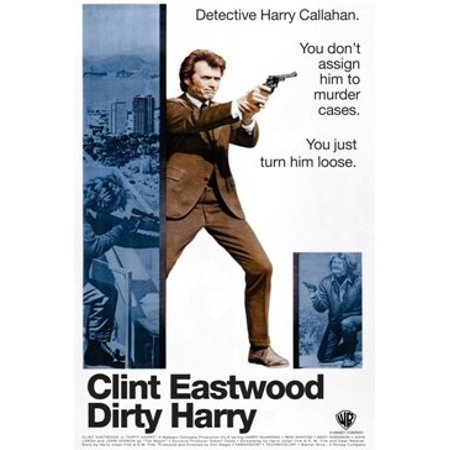 Dirty Harry Clint Eastwood Poster Print (24 X 36)    , By Scorpio Posters  Ship from US
