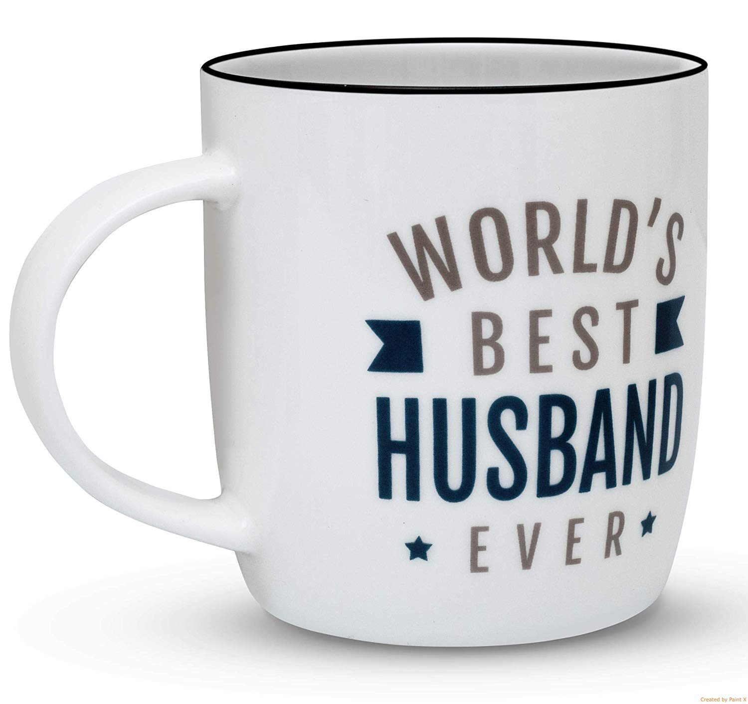 Gifffted Husband Mug, Birthday and Anniversary Gifts For Worlds Best Husband Ever, Funny Fathers Day Gifts For Men, 13 Ounce Coffee Mug, Ceramic Cup