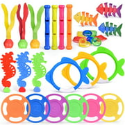 30 PCs Diving Pool Toys Underwater Swimming Pool Toys Set, Pool Party Favors for Kids F-299