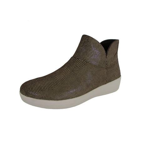 FitFlop Women Supermod Lizard Print Ankle Boot II Shoe (Lizard Print Wingtip)