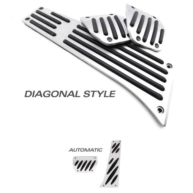 Bimmian PED84ANDY Aluminum Pedal Set- For E84 X1- Automatic Transmission- Without Footrest- Diagonal Grip Style