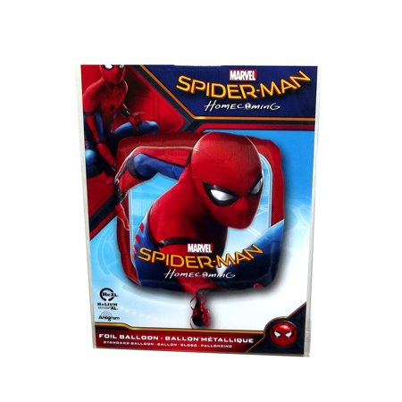 Marvel Spider-Man Homecoming Square Foil Balloon, 17 - Homecoming Decorations Ideas