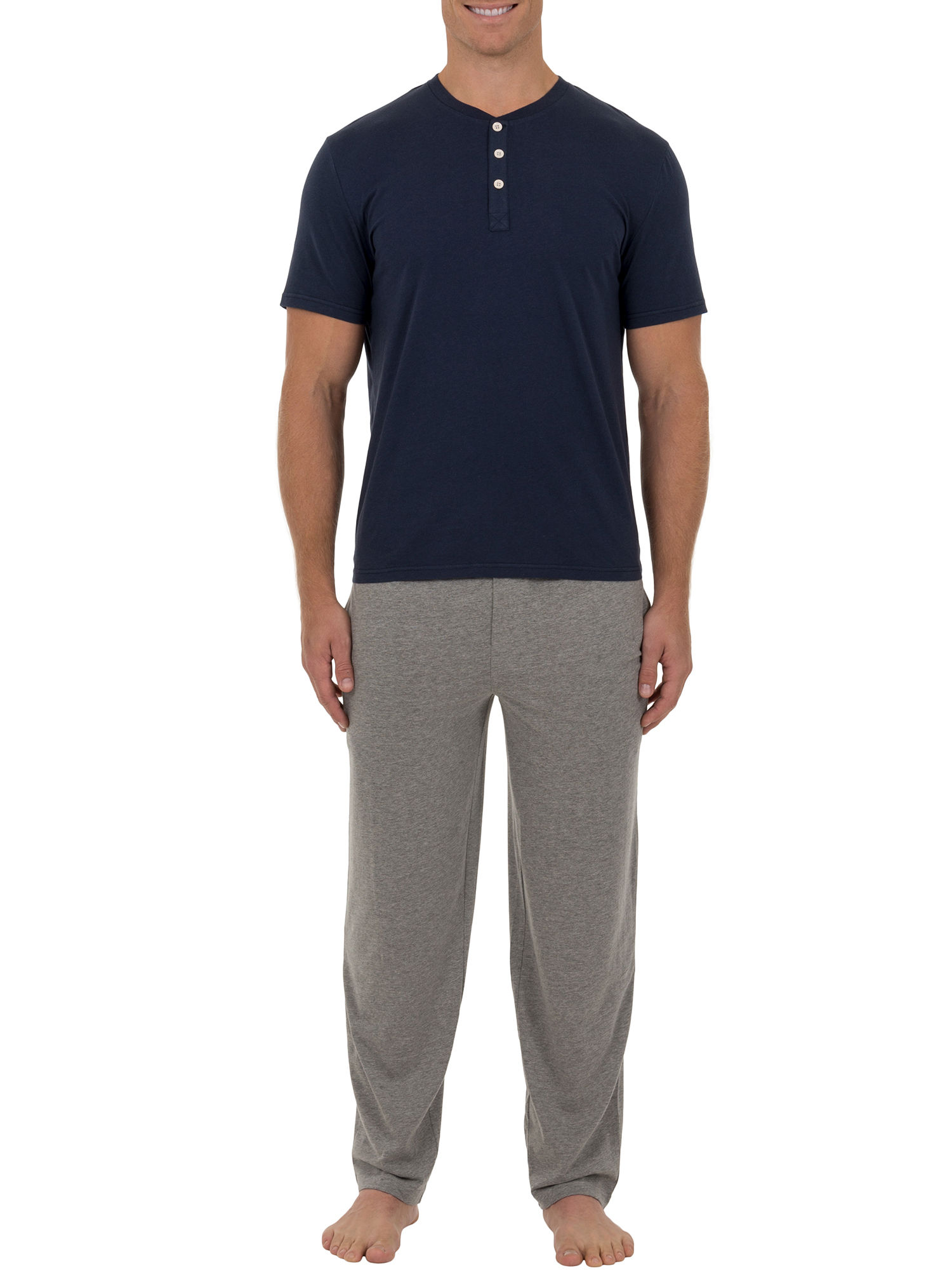 Fruit of the Loom Men's Big Size Jersey knit Top and Pant 2 piece Set