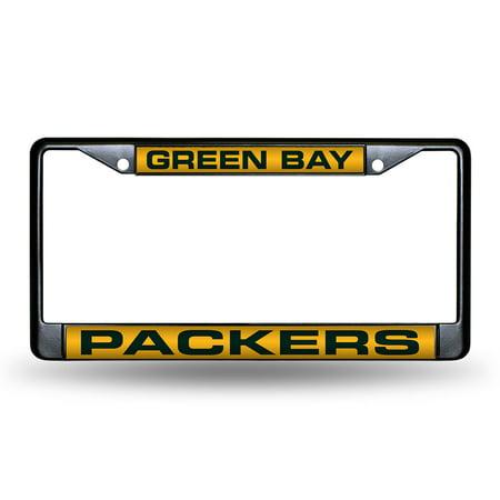 Green Bay Packers NFL Laser Cut Black License Plate Frame - Walmart.com