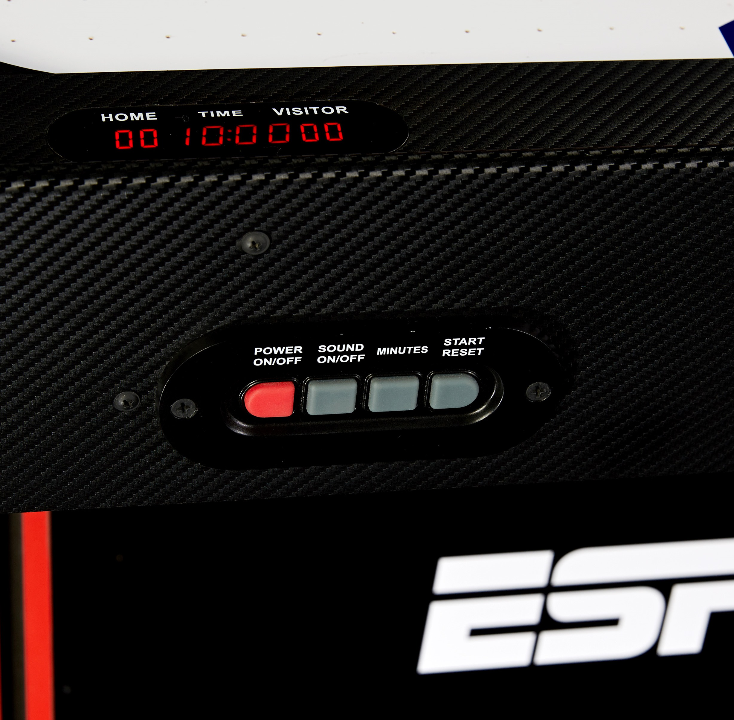 ESPN 72 Inch Air Powered Hockey Table with Table Tennis Top & In Rail Scorer Walmart