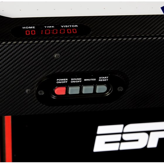 ESPN 72 Inch Air Powered Hockey Table with Table Tennis Top & In-Rail  Scorer, New and Improved production Fall 2018, Includes Paddle and Ping  Pong
