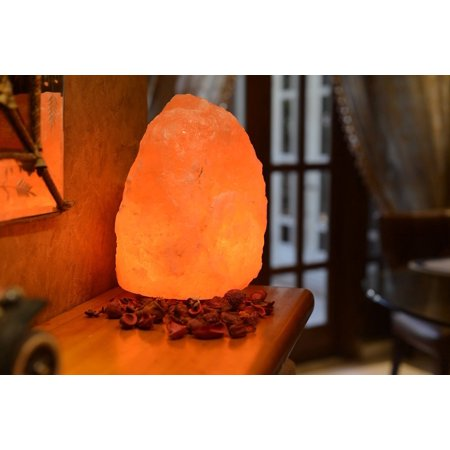 Natural Himalayan Rock Salt Lamp with Wood Base - (Et La702 Lamp)