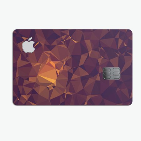 Abstract Copper Geometric Shapes - Premium Protective Decal Skin-Kit for the Apple Credit Card