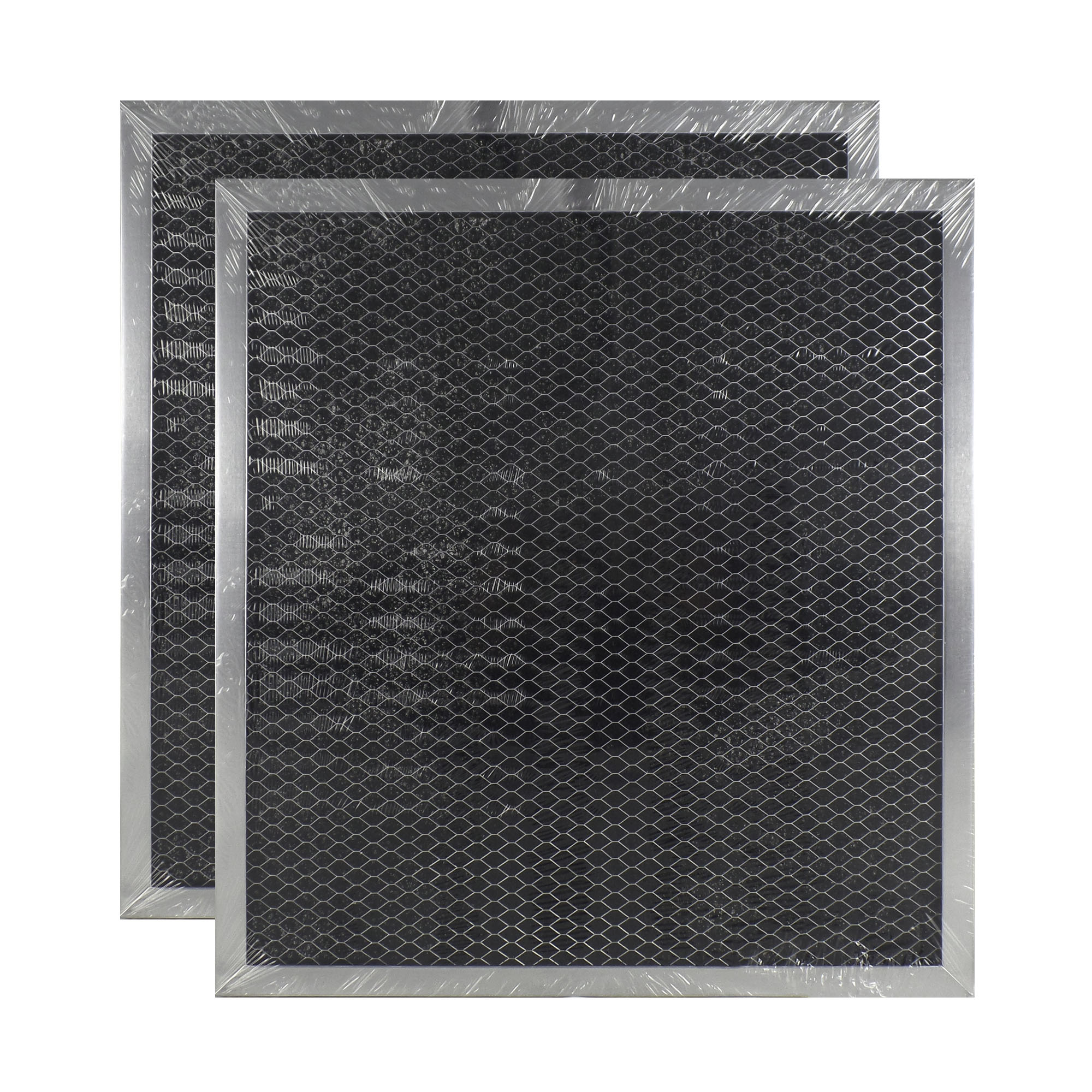 2 PACK 251596 GE Microwave Charcoal Carbon Filter Replacements by Air Filter ...