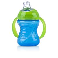 Nuby 1 Pk 8 ounce 2-Handle Silicone Spout Cup, Colors May Vary