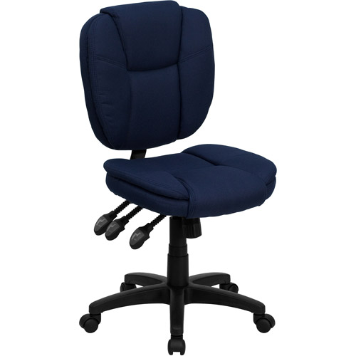 Flash Furniture Mid-Back Multi-Functional Ergonomic Task Chair, Navy Blue