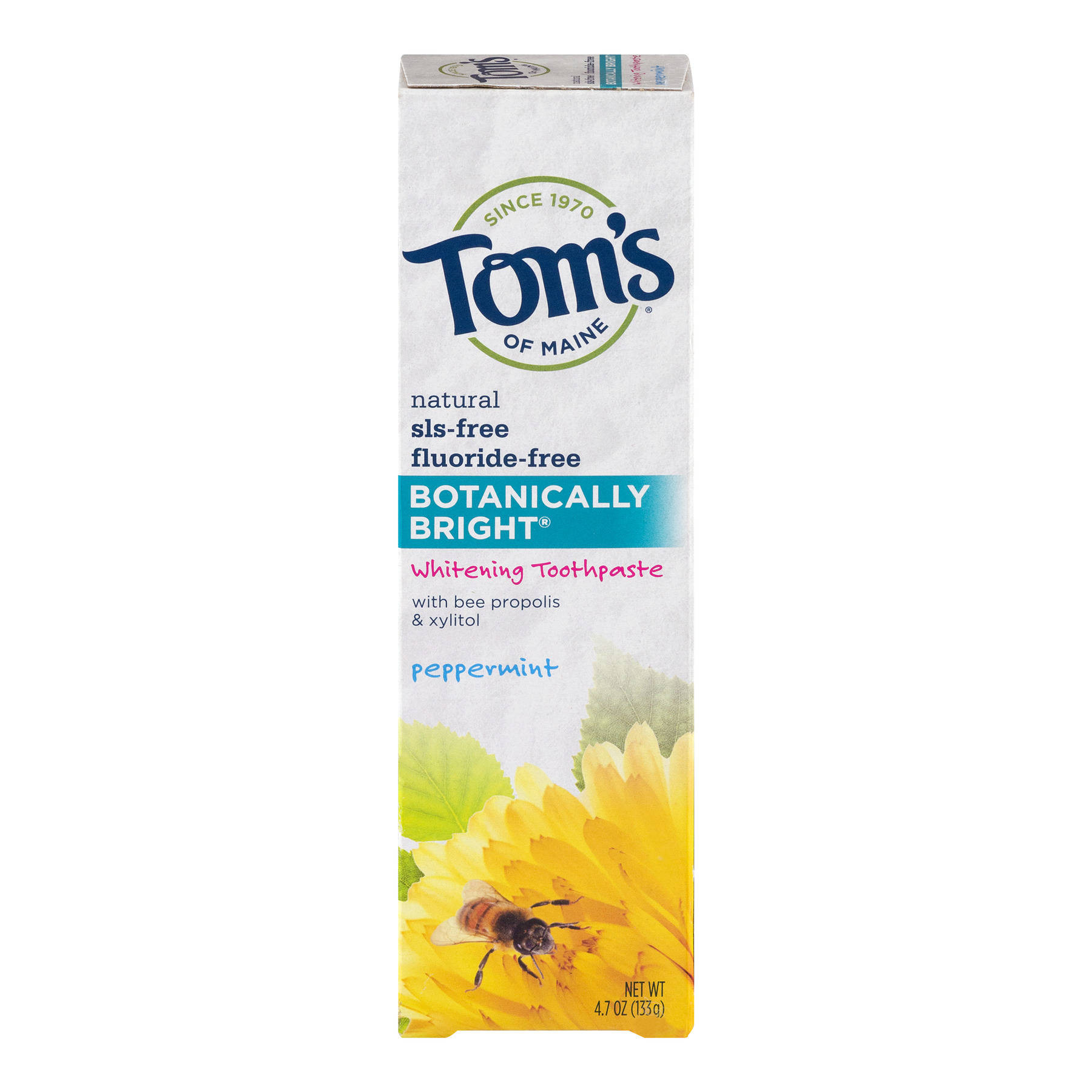 Toms Of Maine Slsfree fluoridefree Botanically Bright Whitening