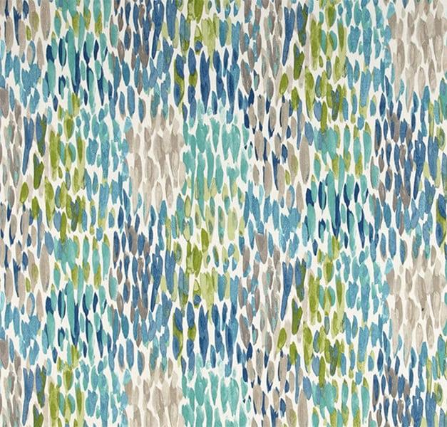 Jordan Manufacturing, Outdoor Spun Polyester Fabric by the Yard, Make It Rain Cerulean