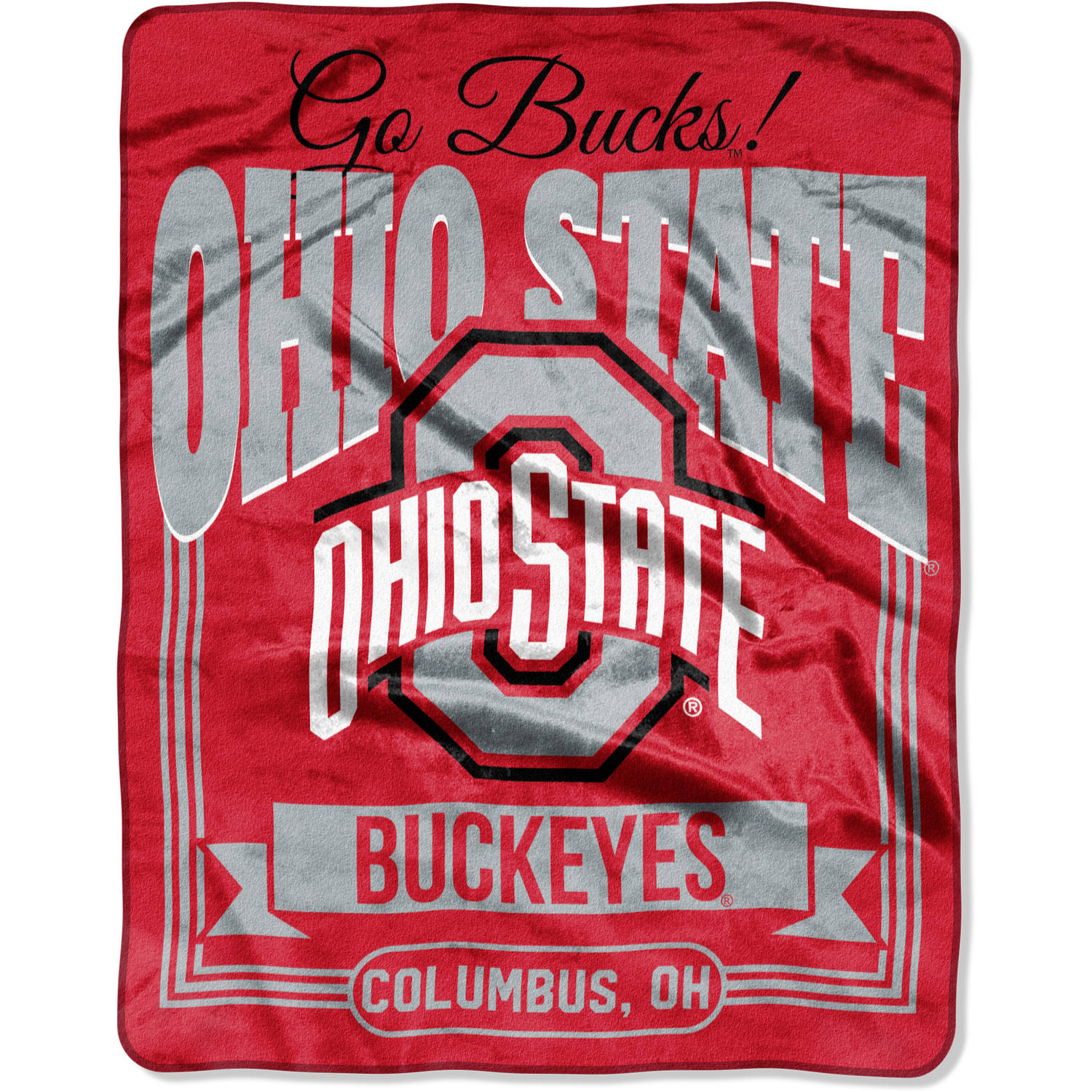 "NCAA Ohio State Buckeyes ""Traction"" 55"" x 70"" Silk Touch Throw"
