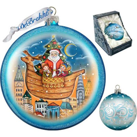 G Debrekht Holiday Christmas Arrival Glass Ornament