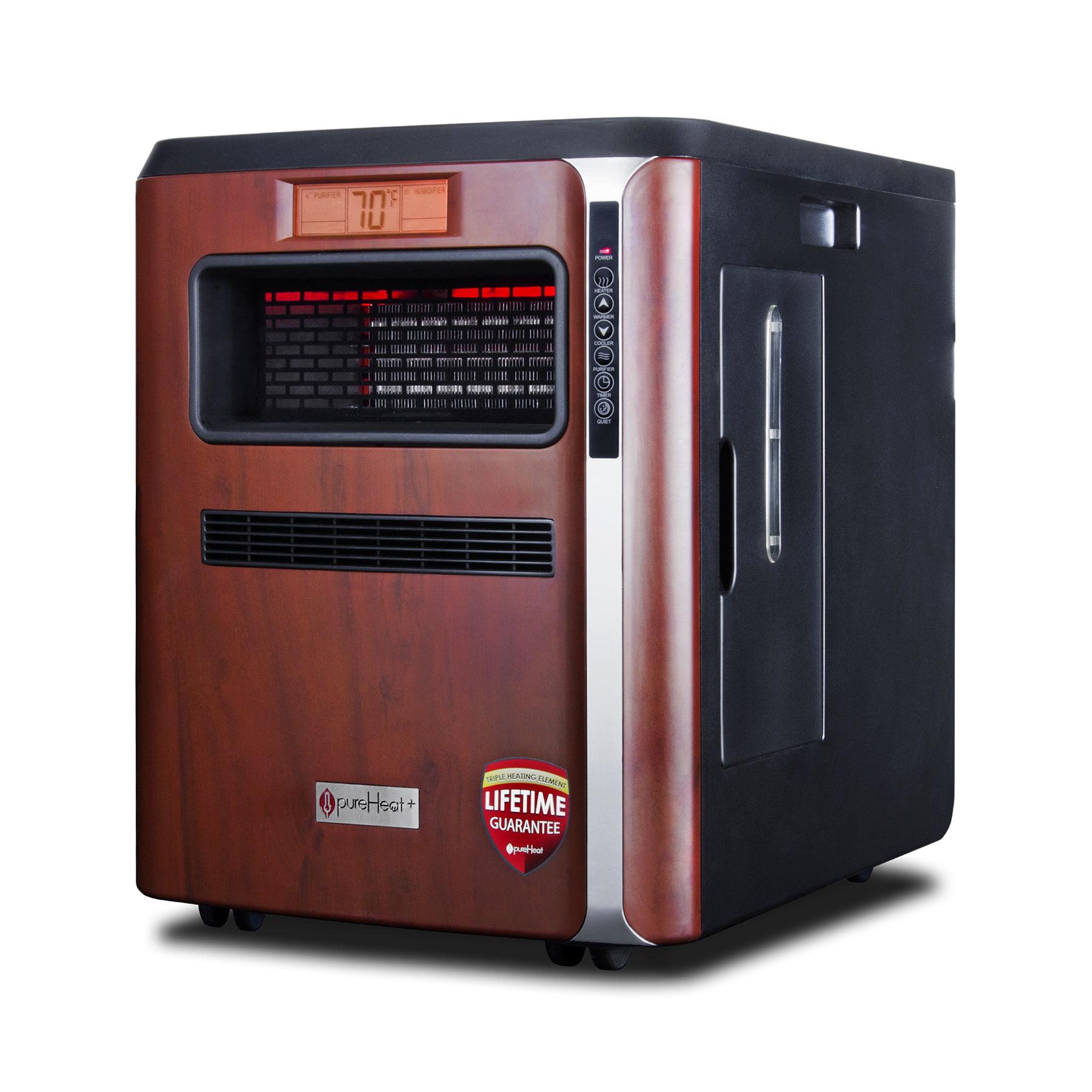 GreenTech Enviromental Pure Heat Plus 3-in-1 Black Plastic Portable Heater