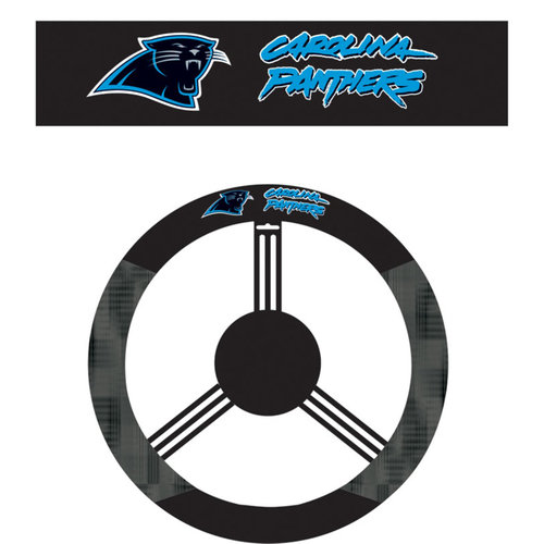 NFL Carolina Panthers Steering Wheel Cover
