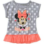 Minnie Mouse Toddler Girl Graphic Ruffled Peplum Tee Shirt