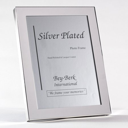 Bey-Berk SF100-09 Silver-Plated 4 x 6 in. Photo Frame - Tarnish (Proof Frames)