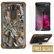 AUTUMN WOODS CAMO LEAF TRI-SHIELD TREE CASE COVER STAND FOR LG V10 PHONE