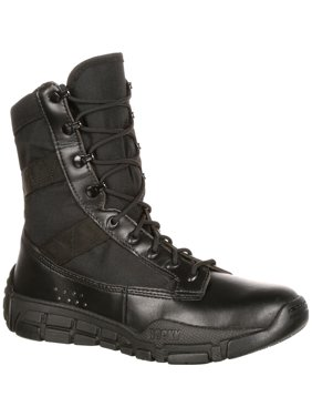 Rocky Men's Military Inspired Duty Work Boots Black Synthetic 6.5 W