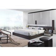VIG Furniture Inc. Modrest Gamma Contemporary Brown Oak Bed with Storage