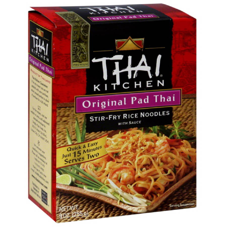 Thai Kitchen Original Pad Thai Stir-Fry Rice Noodles with Sauce, 9 oz, (Pack of 12)