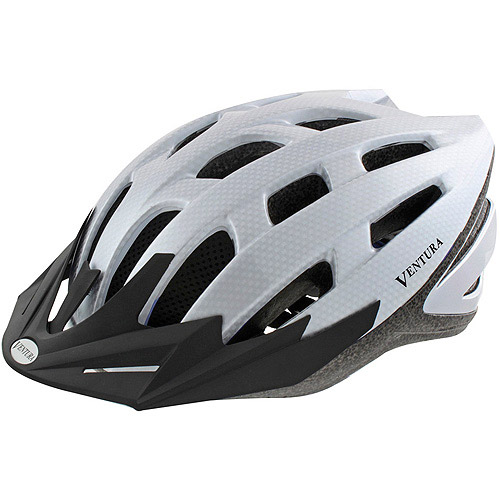 Ventura White Carbon Bike Helmet, Adult (54-58cm)