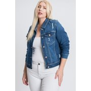 Women's Plus Traditional Denim Jacket in Stretch Denim
