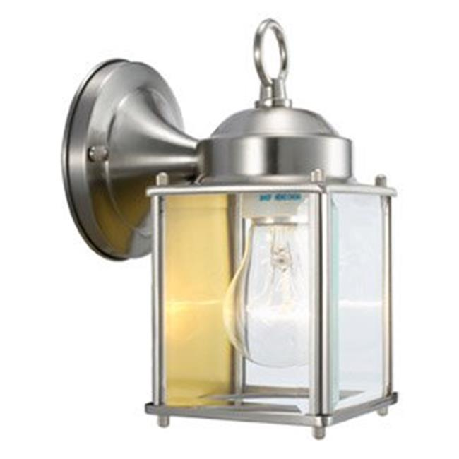 Coach Outdoor Downlight, 4.5 x 8 in. Satin Nickel Finish