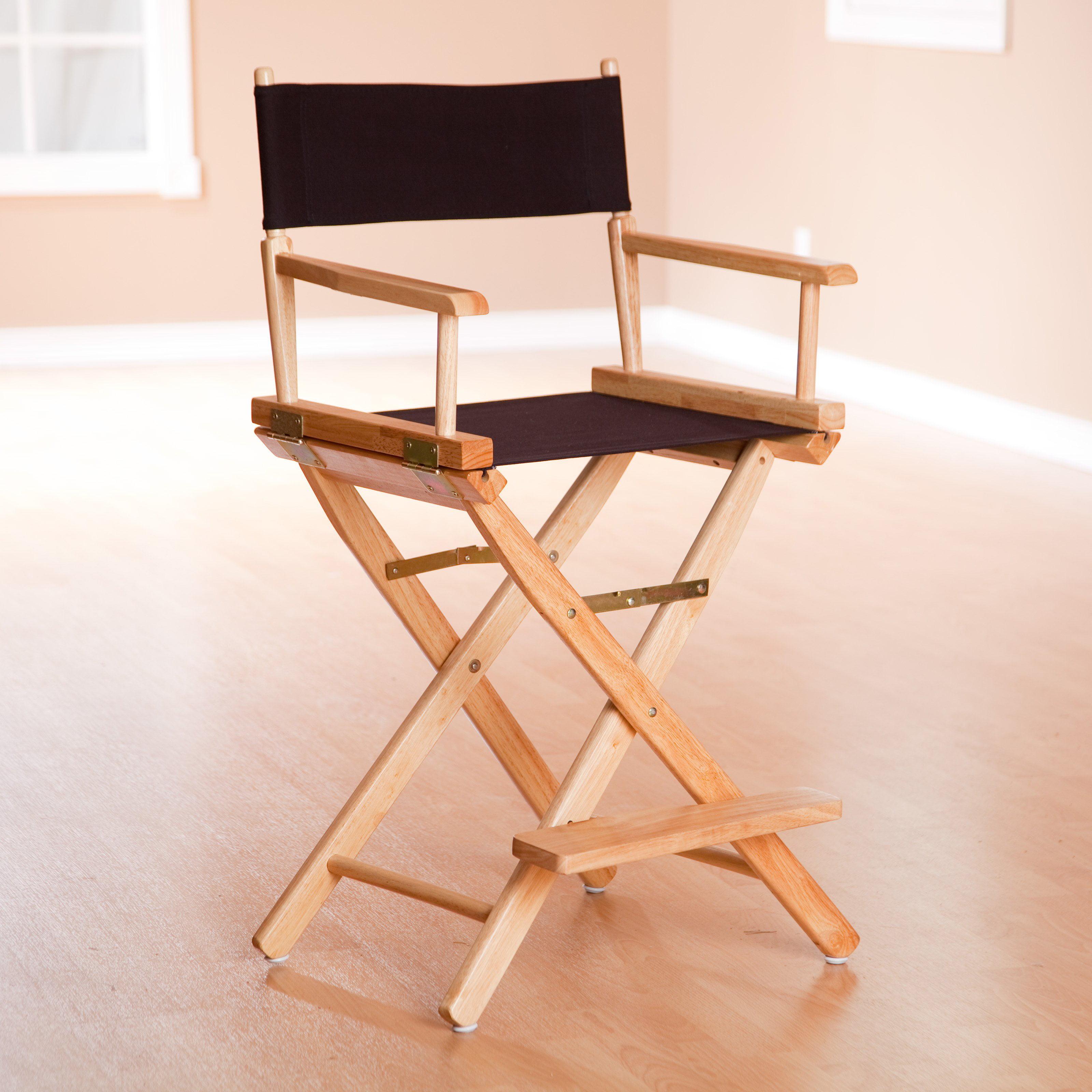 "18"" Director s Chair White Frame Green Canvas Walmart"