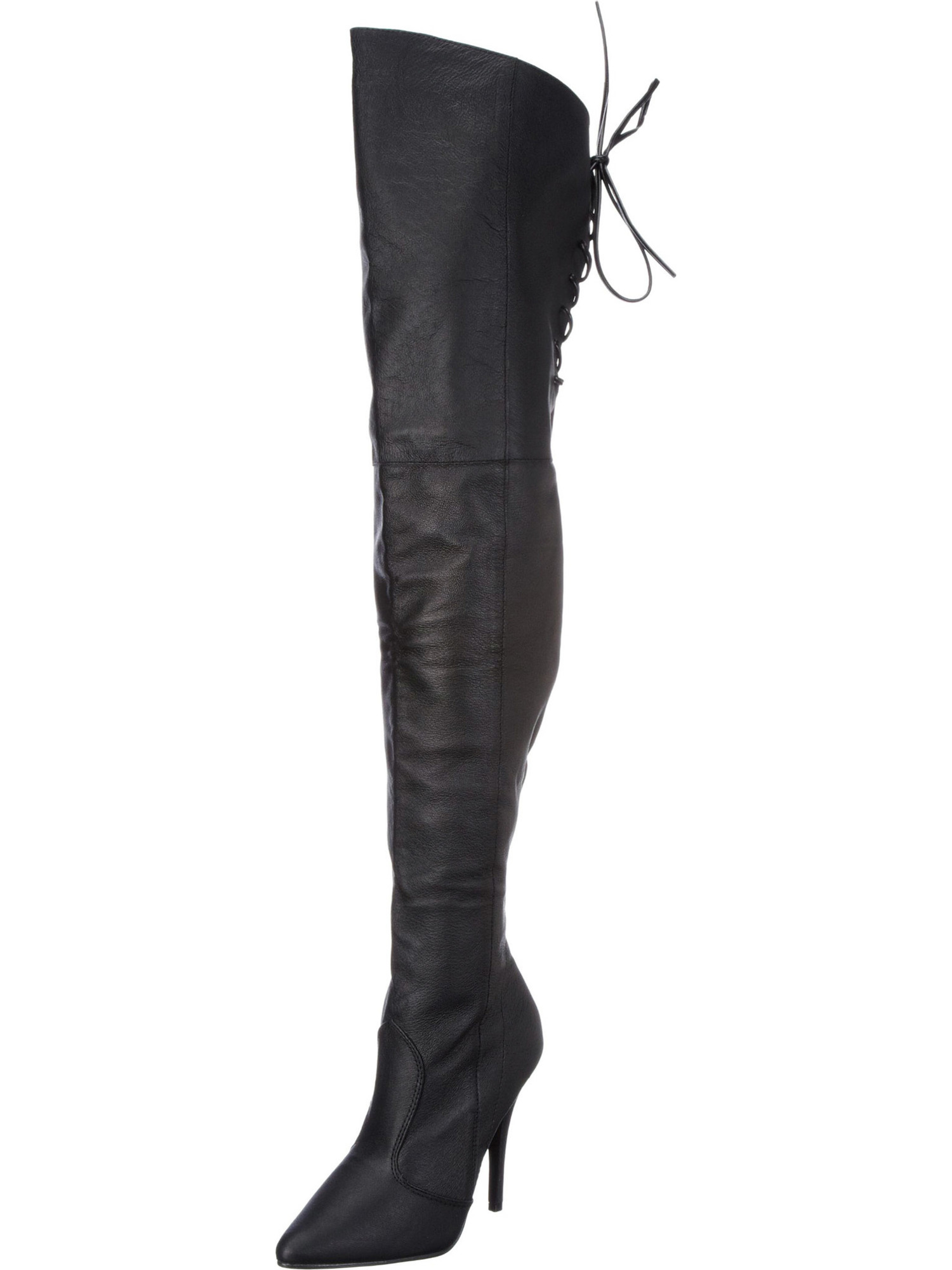Womens Black Over the Knee Boots Thigh